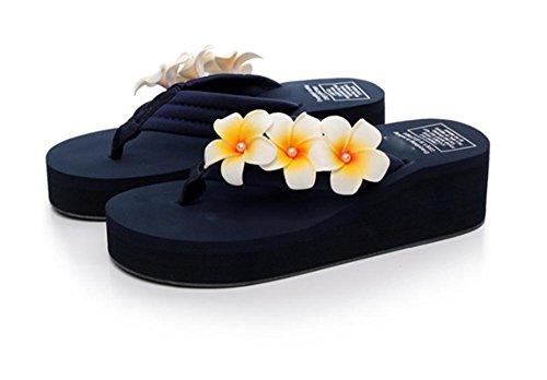 Simple pendiente con la palabra zapatillas deslizadores de fondo grueso zapatillas zapatos de playa de señoras 2
