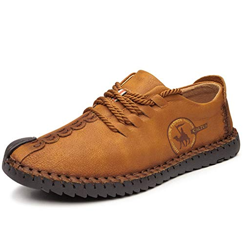 Phil Betty Men Casual Shoes Lace Up Round-Toe Breathable Comfortable Business Loafers ()