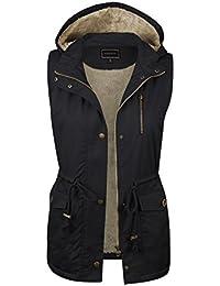 accbca17227a Women s Anorak Military Utility Jacket Vest w Drawstring  S-3XL