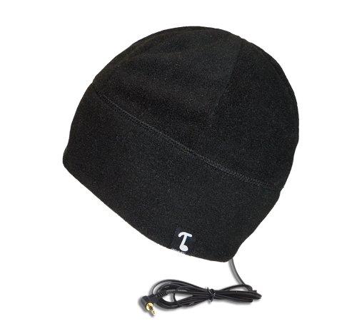 Concept Fleece - TOOKS POLARCAP Fleece Headphone Beanie With Built-in Removable Headphones - COLOR: BLACK