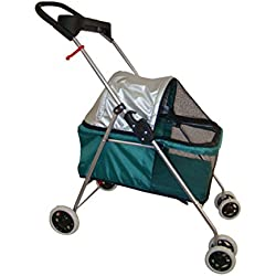 Posh Pet Stroller Teal Dogs Cats with Cup Holder Handle