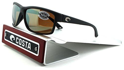 Costa Del Mar Mag Bay 580G Polarized Men Sunglasses (Matte Grey Frame, Silver Mirror Lens - Costa Sale