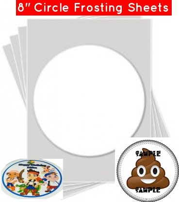 Kopykake Frosting Sheets (24 sheets per pack (8; ROUND FROSTING SHEETS (Kopykake Frosting Sheets)
