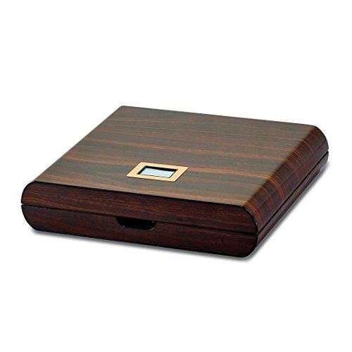 Gloss Finish Humidor High (Saris and Things Walnut Wood Veneer High Gloss Finish 10 Cigar Digital Humidor)