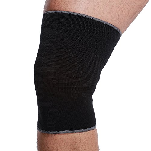 Neotech Care Knee Sleeve (1 Unit) - Light, Elastic, Thin, Flexible & Breathable Fabric - Medium Compression - Support Band for Men, Women, Youth - Right or Left Leg - Black Color (Size M)