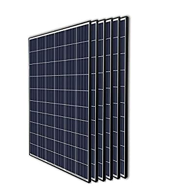 Renogy 6Pcs 270 Watt 24 Volt Solar Panel 1620W for Off-Grid On-Grid Large Solar System, Residential Commercial House Cabin Sheds Rooftop, Multi-Panel Solar Arrays