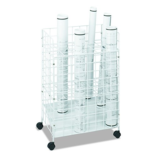File Plan - Safco Products 3088 Wire Roll File, 24 Compartment, White