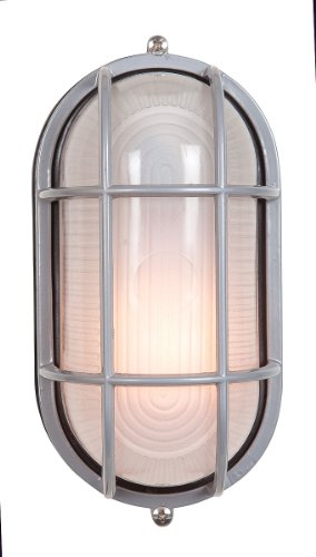 Nauticus - Wet Location Bulkhead - Satin Finish - Frosted Glass Shade from Access Lighting - HI
