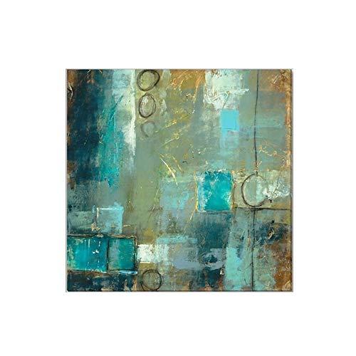Pintura Al oLeo Pintada A Mano, Cuadros Abstractos Modernos Sobre Lienzo Arte, Sala De Estar Dormitorio DecoracioN Para El Hogar,90×90cm
