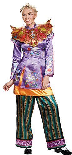 (UHC Women's Alice Throught Glass Wonderland Asian Look Disney Halloween Costume, L)