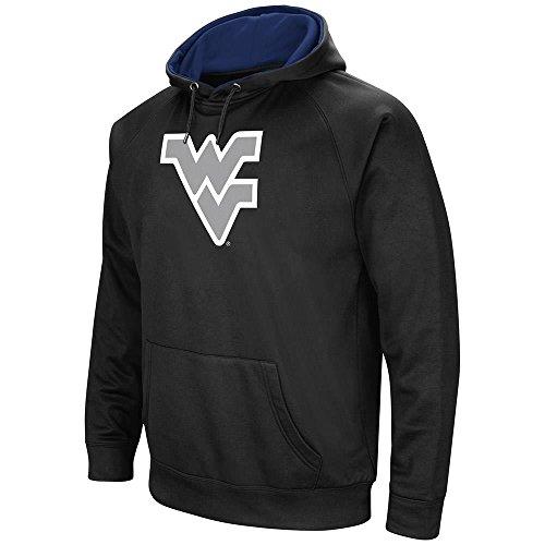 Mens West Virginia Mountaineers Black Pull-over Hoodie - M (Tackle Virginia West)