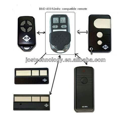 Calvas Hot selling BND B&D garage doors,openers Roller doors replacement remote control