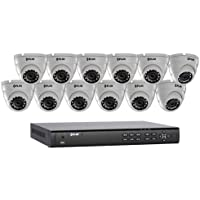 FLIR 16 Channel, 8 PoE+ Support Full HD NVR with 3TB HDD and 12 4MP IP Eyeball Dome Cameras
