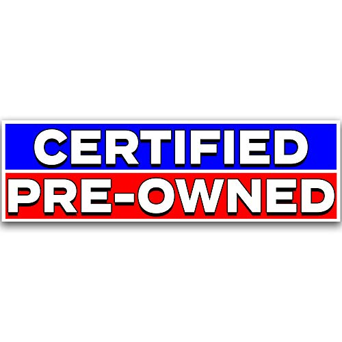 Certified Pre-Owned Vinyl Banner 10 Feet Wide by 3 Feet -