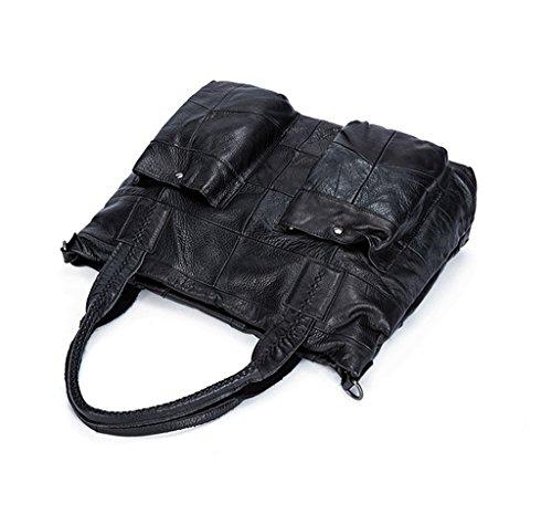 a Genuino Bloqueo Genuina Cuero para bolsos viaje Ideal hombro de trabajo Mujer Sucastle Gran Capacidad y Hecho Mano RFID 1 zq7wxfXCg