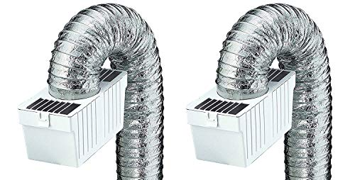 Supurr Flex Clothes Dryer - Deflecto Dryer Lint Trap Kit, Supurr-Flex Flexible Metallic Duct (Pack of 2)