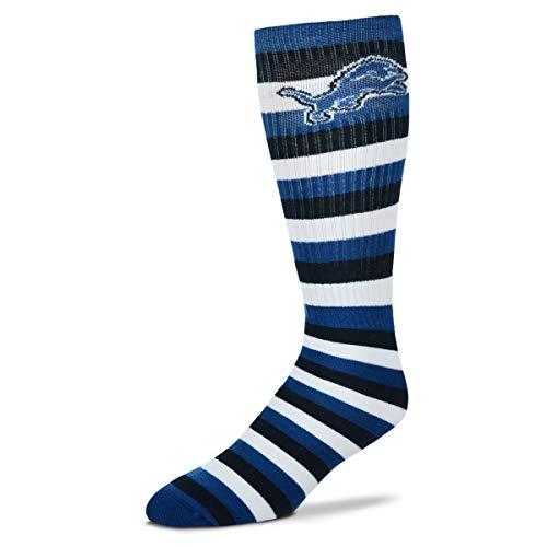 For Bare Feet Detroit Lions 511 Stripes Socks Knee High Size Large Fits 10-13