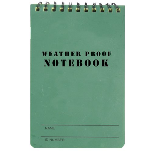 fox-outdoor-products-military-style-weatherproof-notebook-olive-drab-4-x-6