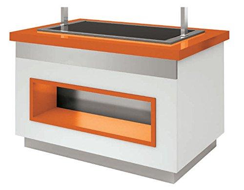 Restonoble-Barra de hielo profesional-Bandeja de hielo con capacidad para 4 bandejas de 5 litros-, 1000 mm, Plan de trabajo: Amazon.es: Hogar