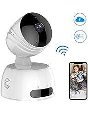 cámaras de vigilancia, cámaras en Domo, IP WiFi inalámbrica 720P con HD visión Nocturna, Monitor para bebés/Ancianos/Mascotas/prevención de robos en los hogares