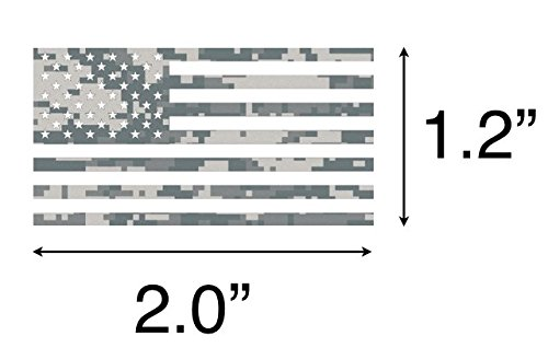 25 Pack - Camouflage Camo Military USA Flag ''Salute To Service'' Helmet Decal Sticker (Full & Mini Helmets)