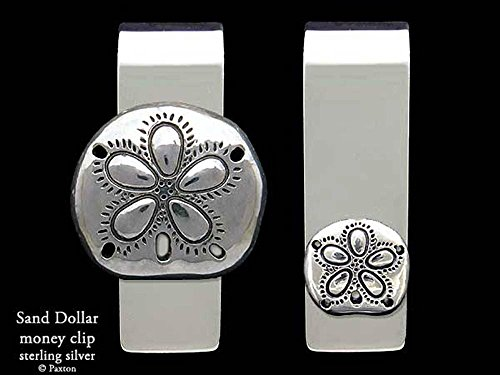 Sand Dollar Money Clip in Solid Sterling Silver Hand Carved, Cast & Fabricated by Paxton by Paxton Jewelry