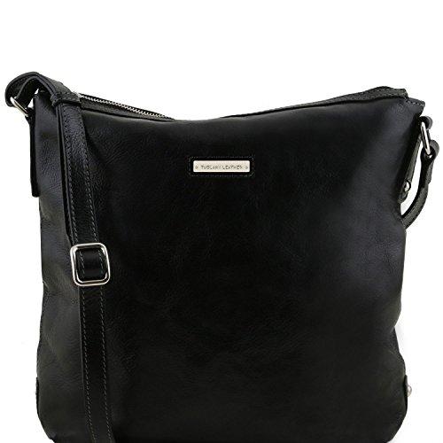Tuscany Leather Alice Bolso Shopping de señora en piel - Tamaño grande Miel Bolsos de asa larga Negro