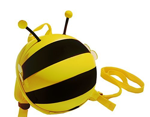 Kids Cute Bumble Bee Backpack with Saftey Harnesses & Leashes -
