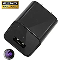 Fifi SpyCam AC Wall Plug Adapter Charger 1080P HD USB Hidden Spy Nanny Home Security Camera With 32GB Bulit-in Internal Memory.