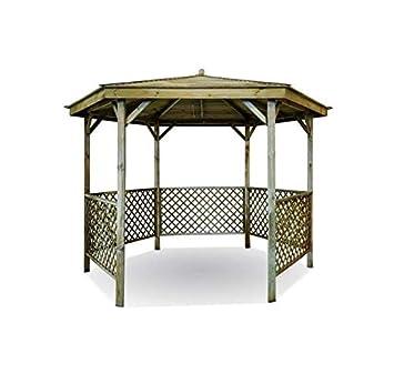 Kiosque de jardin en bois hexagonal Lora: Amazon.fr: Jardin
