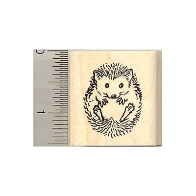 Small Hedgehog Rubber Stamp: Arts, Crafts & Sewing