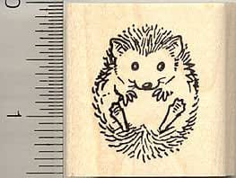 Small hedgehog rubber stamp arts crafts sewing for Rubber stamps arts and crafts