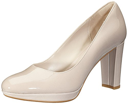 Clarks Women's Kendra Sienna Pump,Nude Patent Leather,US 9.5 (Sienna Authentic Leather)