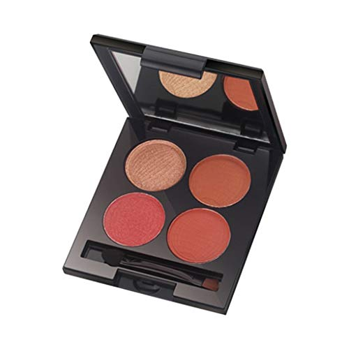 Zlolia 4 Colors Pigmented New Nude Eyeshadow Palette-Warm Color Neutrals Long Lasting Shimmer Cosmetics-Professional Glitter Matte