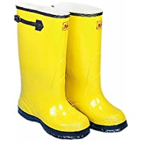 """Mutual 14500 Extra Wide Over-The-Shoe Work Slush Boot, 17"""" Height, Size 18, Yellow"""