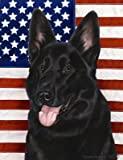 Best of Breed German Shepherd Black Patriotic II Large Flags