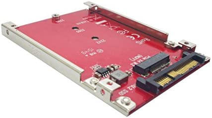 """Ableconn IU2-M2132 M.2 to U.2 Adapter - Turn M.2 NVMe SSD into 2.5"""" Drive for U.2 (SFF-8639) Host Interface"""