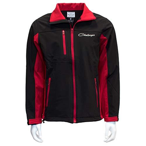 Dodge Challenger Softshell Work Jacket - Red & Black - Lightweight Zip Up 3XL