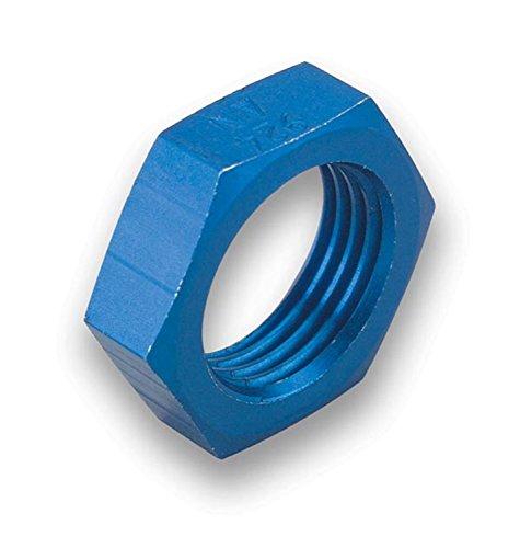 Earls Aluminum Nuts - Earl's 992408 Blue Anodized Aluminum -8AN Size Bulkhead Nut