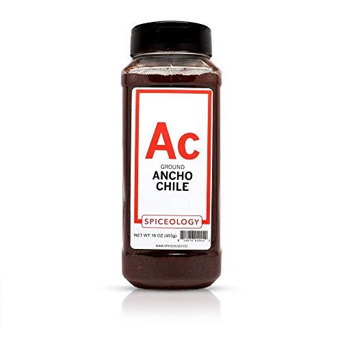 Chile Pepper Powder - Spiceology Premium Spices - Ground Ancho Chile Powder, 16 oz