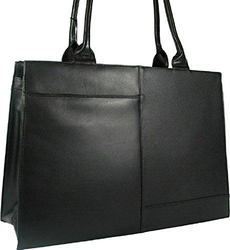Style Work Briefcase Leather Beautiful New Black Ladies 19147 Organiser Large Bag Laptop Visconti awTSx