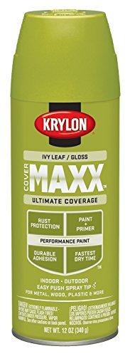Ivy Leaf Spray - Krylon K09126000 COVERMAXX Spray Paint, Gloss Ivy Leaf by Krylon