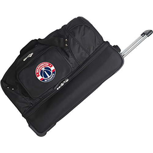 DENCO WASHINGTON WIZARDS 27'' 2-WHEELED DROP BOTTOM DUFFEL by Denco Luggage 1048749