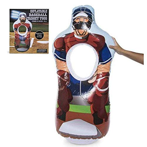 (Pitching Equipment. Youth Baseball Training. Inflatable Baseball Pitch Trainer. Softball Target Toss Kids Adults Softball Training. Blow Up Umpire Pitch Training. (44in Tall))