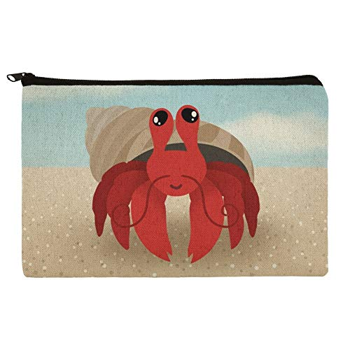 (Sweet Hermit Crab Makeup Cosmetic Bag Organizer Pouch)
