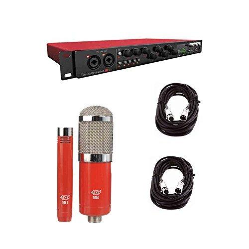Focusrite SCARLETT18i20 Audio Interface and MXL 550/551 Mic w/ XLR Cables by Focusrite