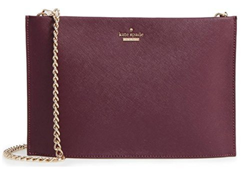 Kate Spade New York cameron street - sima leather shoulder bag, Deep Plum