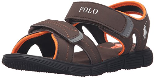Polo Ralph Lauren Kids Brody Chocolate Sportbuck Sport Sandal (Toddler/Little Kid/Big Kid)