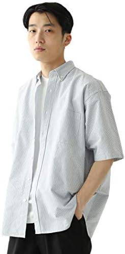 /半袖シャツ イージー オックスフォード ボタンダウン シャツ メンズ