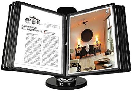 Zeitungsständer TXC- Aktenhalter Aktenhalter for A4-Seiten Desktop-Datenregal Desktop-Display um 360 ° drehbarer Klapprahmen Hochwertige Materialien